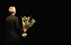 Flowers at the end of a concert